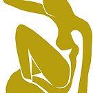 Matisse schnitt Abbildung # 1 Senf-Gelb heraus von ShaMiLaB
