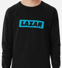 Lazar - Blaues Logo Leichter Pullover