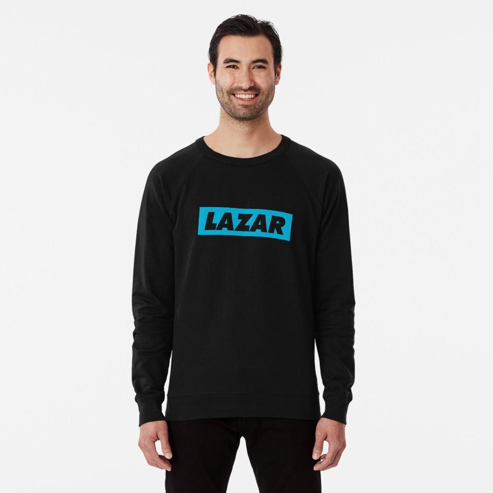 Lazar - Blue Logo Lightweight Sweatshirt