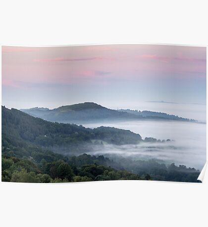 Dawn on the Malvern Hills, England Poster