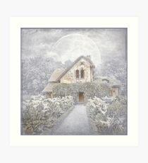 Moon Cottage Art Print