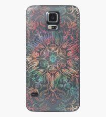 Funda/vinilo para Samsung Galaxy Winter Sunset Mandala en carbón de leña, menta y melón
