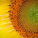 Sunflower Sweat - card with quote* by Tara Wagner