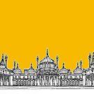 Brighton Royal Pavilion Facade ( yellow version ) by Adam Regester