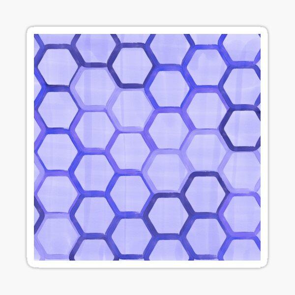 Purple honeycomb Sticker