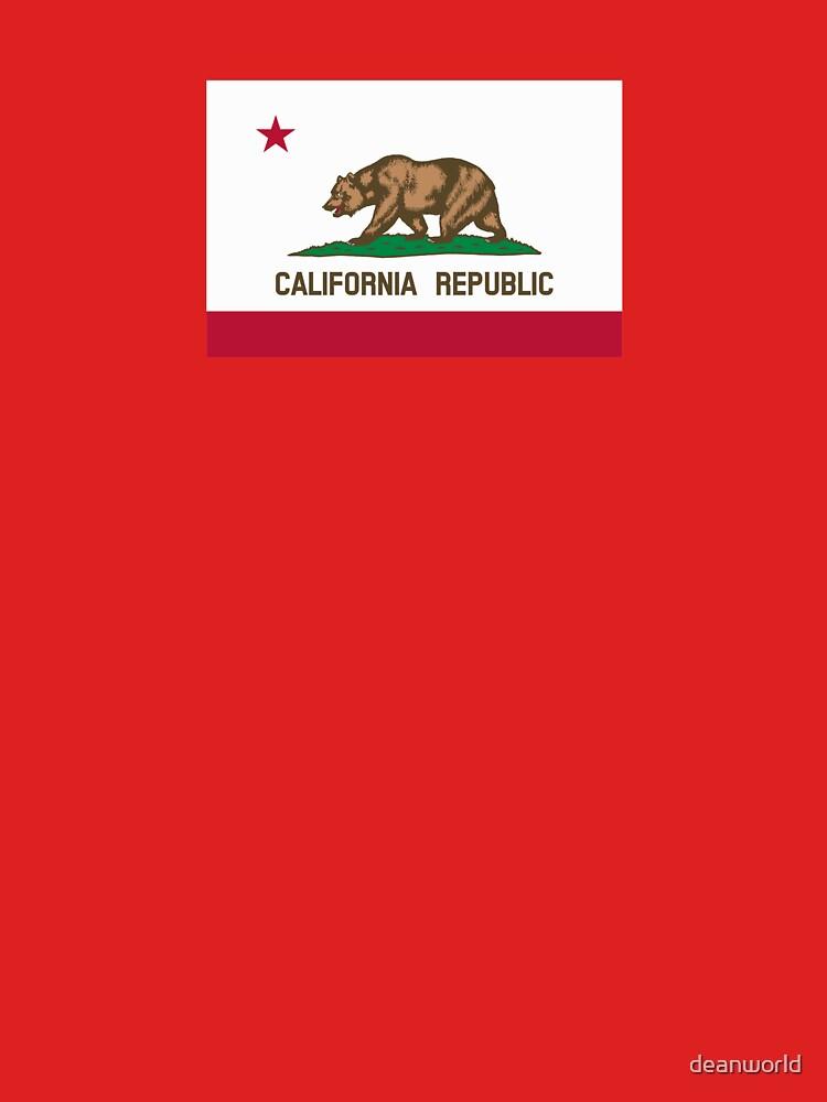 California USA State Flag Bedspread Duvet T-Shirt - Californian Sticker by deanworld