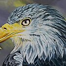 Acrylic Painting of Eagle by Alannis Turner