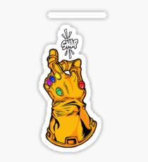 infinity gauntlet thanos snap avengers marvel hoodie Sticker