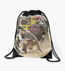 Fancy footwork Drawstring Bag
