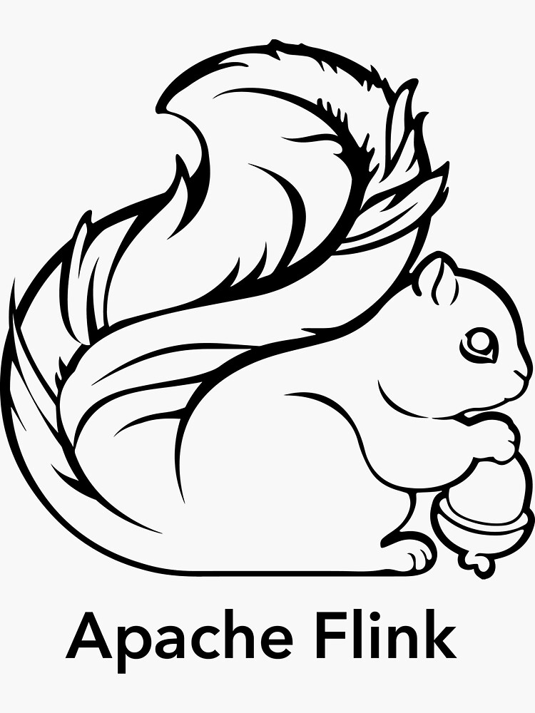 Apache Flink B&W by comdev