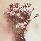 Abstract Vintage Carnation by VictoriaHerrera