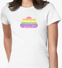 Clouds - LGBT+  Fitted T-Shirt