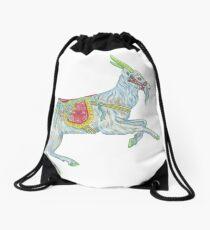 Carousel Goat Drawstring Bag