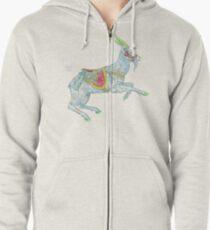 Carousel Goat Zipped Hoodie