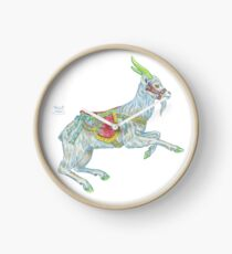 Carousel Goat Clock