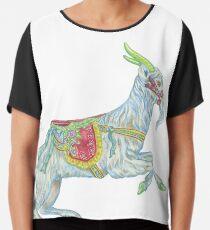 Carousel Goat Chiffon Top