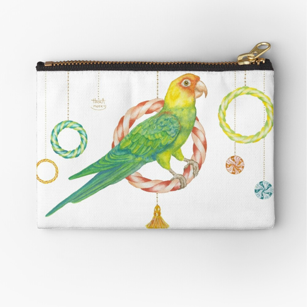 Candy Carolina Parakeet Zipper Pouch