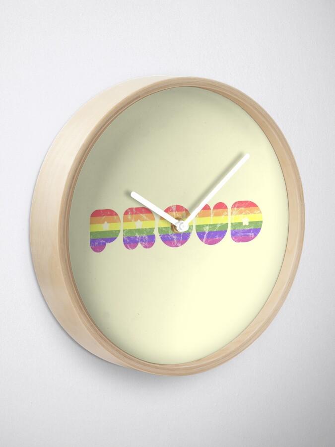 Alternate view of Proud - LGBT+  Clock