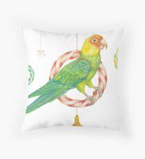 Candy Carolina Parakeet Throw Pillow