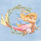 Rosa blonde Meerjungfrau von LCWaterworth