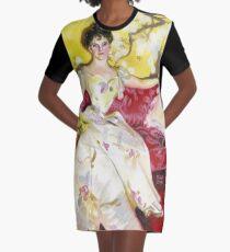 Zorn Lady Portrait Study Graphic T-Shirt Dress