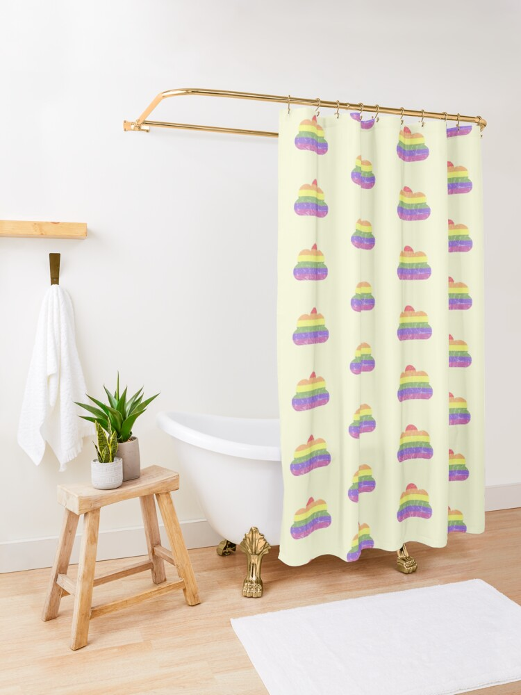 Alternate view of Clouds - LGBT+  Shower Curtain