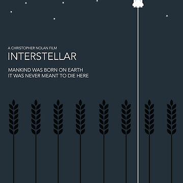 Interstellar Tribute - Minimalist Space Design by atomickid