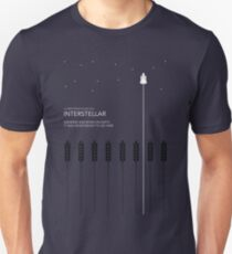 Interstellar Tribute - Minimalist Space Design Unisex T-Shirt