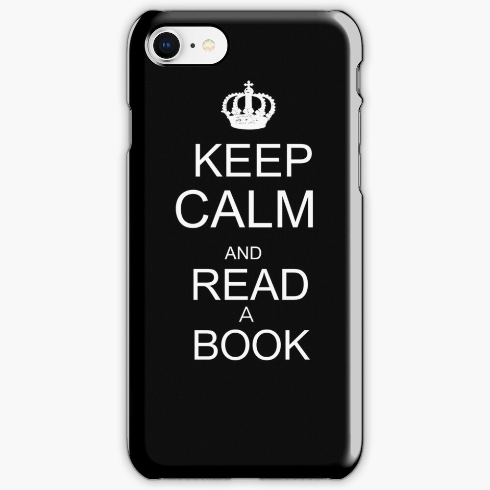 Keep calm and read a book iPhone Case & Cover