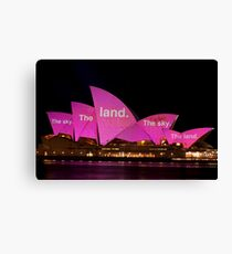 The Sky The Land, The Sky The Land Canvas Print