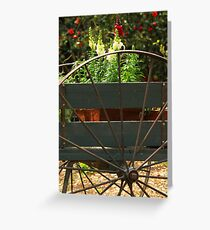 Flowers In The Cart Greeting Card