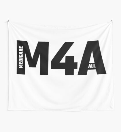 M4A - Medicare For All Wall Tapestry