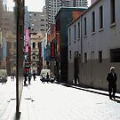 Reflection in Alley, Melbourne by brendanscully