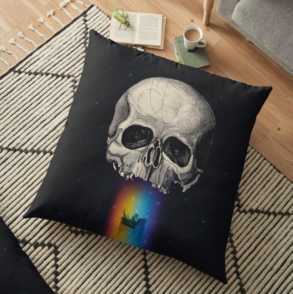 Iridescent Oblivion Floor Pillow