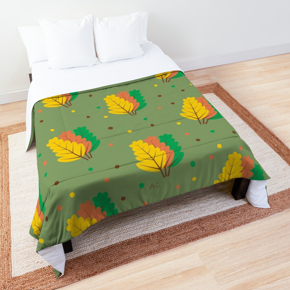 Autumn : Three Fallen Leaves Comforter