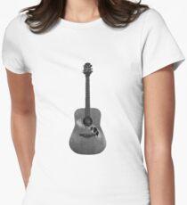Battered Guitar Women's Fitted T-Shirt