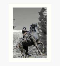Pancho Villa rides through Tucson Art Print