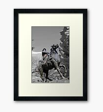 Pancho Villa rides through Tucson Framed Print