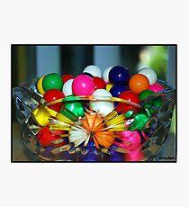 Colorful Gumballs Photographic Print