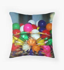Colorful Gumballs Throw Pillow