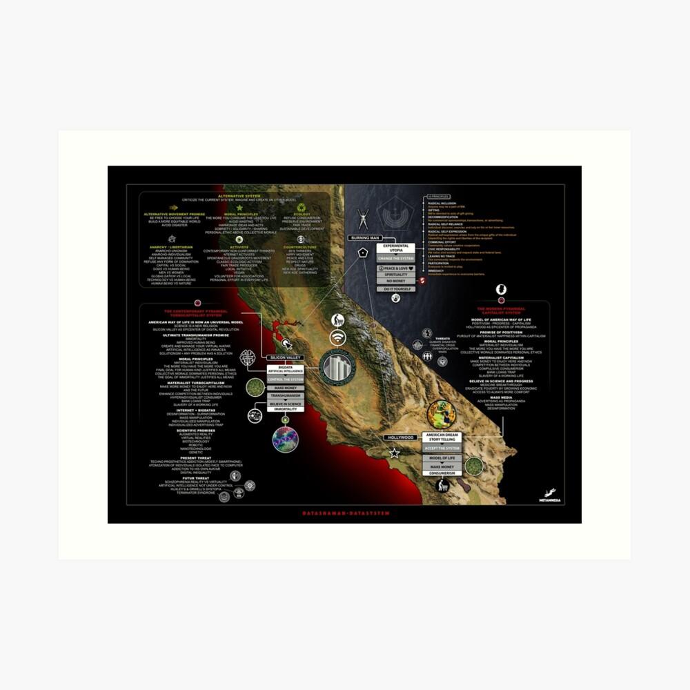 datasystem-map Art Print