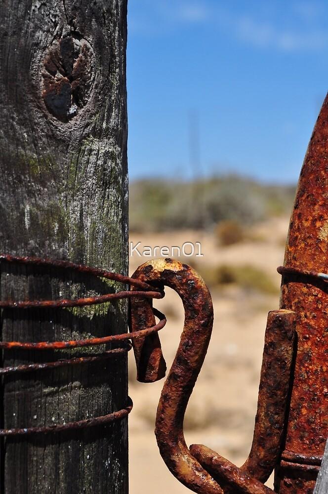 Forgotten fence by Karen01