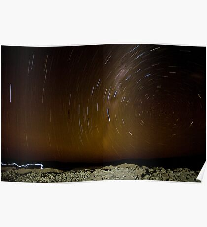 Atacama Star Trail Poster