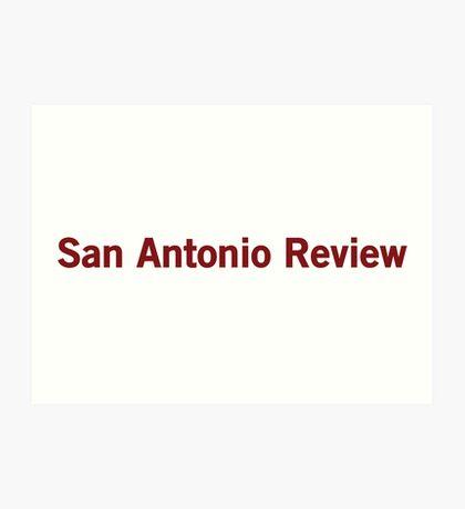 San Antonio Review Art Print
