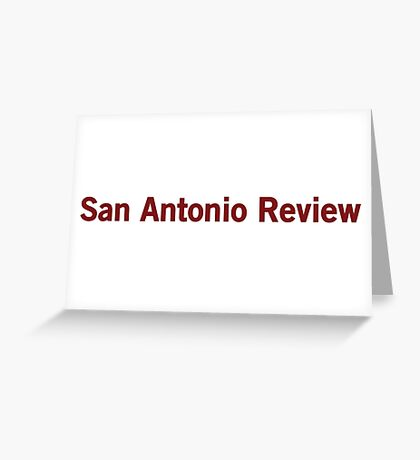 San Antonio Review Greeting Card