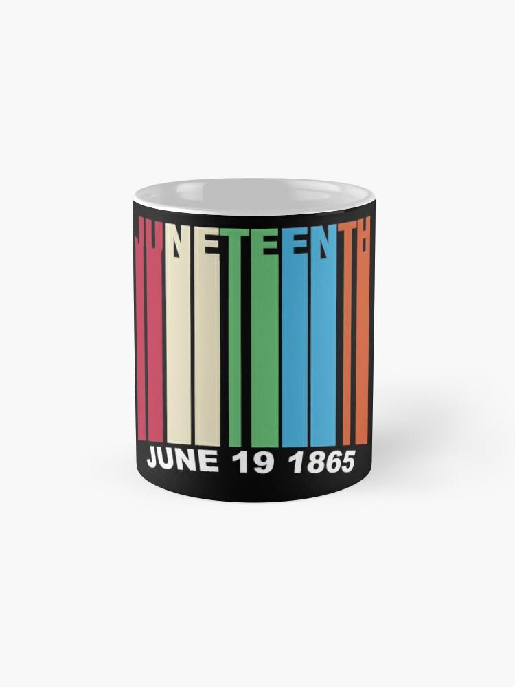 Alternate view of Juneteenth Retro Style Mug