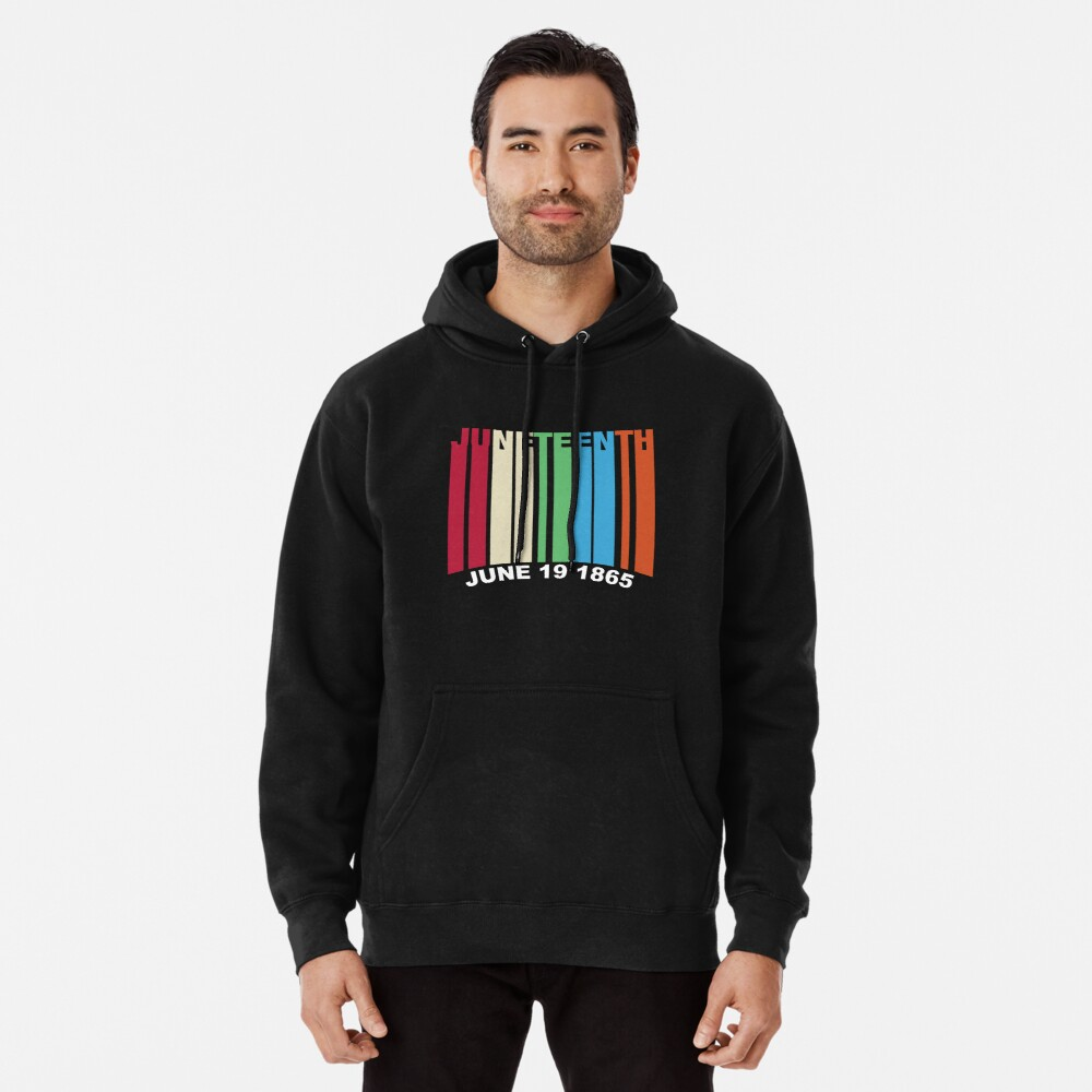 Juneteenth Retro Style Pullover Hoodie