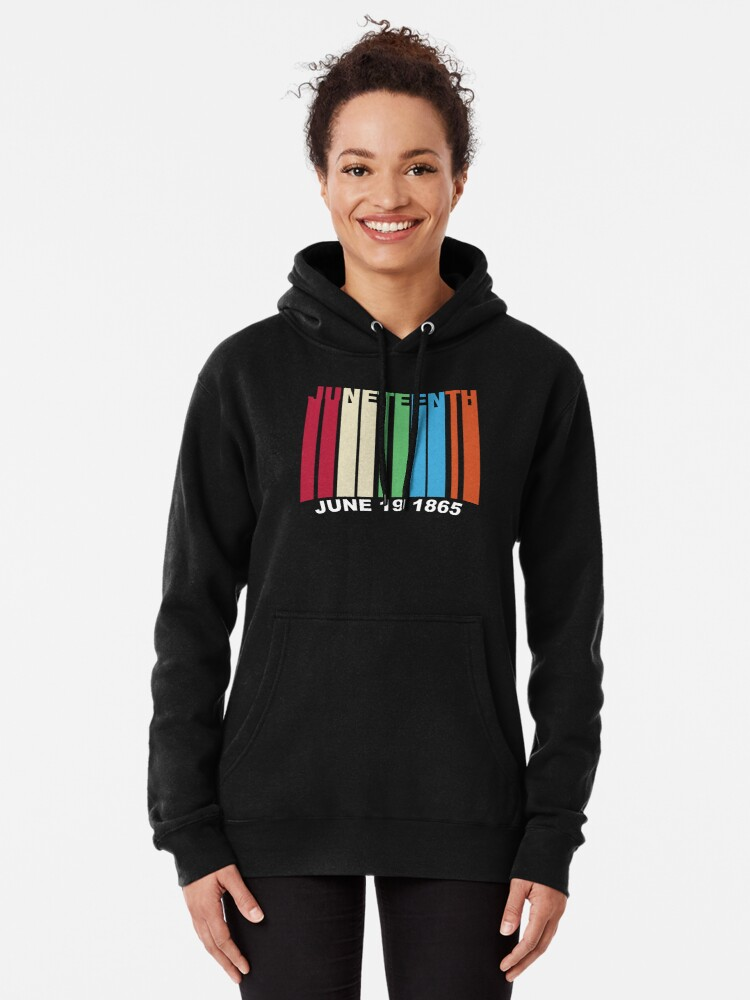 Alternate view of Juneteenth Retro Style Pullover Hoodie
