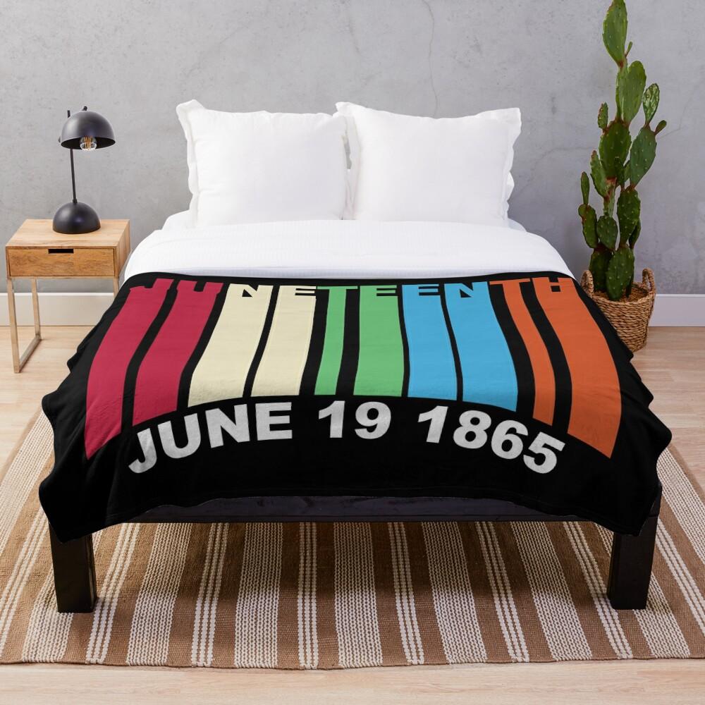 Juneteenth Retro Style Throw Blanket
