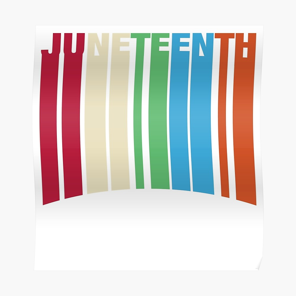 Juneteenth Retro Style Poster